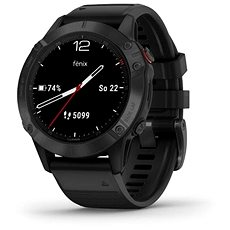 Garmin Fenix 6 Glass, Black/Black Band (MAP/Music)
