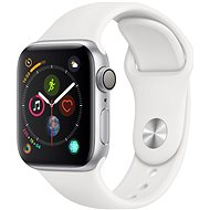 Apple Watch Series 4 40mm Strieborný hliník s bielym športovým remienkom