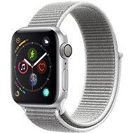 Apple Watch Series 4 40mm Strieborný hliník s mušľovo bielym prevliekacím športovým remienkom