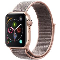Apple Watch Series 4 40mm Zlatý hliník s pieskovo ružovým prevliekacím športovým remienkom