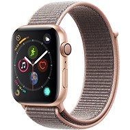 Apple Watch Series 4 44mm Zlatý hliník s pieskovo ružovým prevliekacím športovým remienkom
