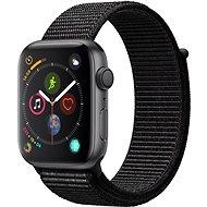 Apple Watch Series 4 44mm Vesmírne čierny hliník s čiernym prevliekacím športovým remienkom - ROZBALENÉ