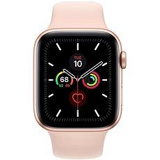 Apple Watch Series 5 44 mm Zlatý hliník s pieskovo ružovým športovým remienkom