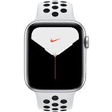 Apple Watch Nike Series 5 44 mm Strieborný hliník s platinovým/čiernym športovým remienkom Nike