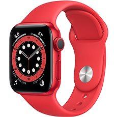 Apple Watch Series 6 40 mm Červený hliník s červeným športovým remienkom