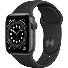Apple Watch Series 6 44 mm Vesmírne sivý hliník s čiernym športovým remienkom- ROZBALENÉ