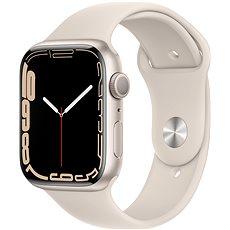 Apple Watch Series 7 45 mm Hviezdne biely hliník s hviezdne bielym športovým remienkom