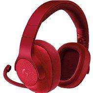 Logitech G433 Surround Sound Gaming Headset červený
