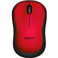 Logitech Wireless Mouse M220 Silent, červená