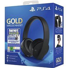 Sony PS4 Gold Wireless Headset Black
