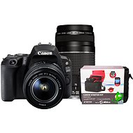Canon EOS 200D čierny   18–55 mm DC III   75–300 mm DC III