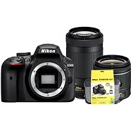 Nikon D3400 čierny   18-55mm VR   70-300 VR