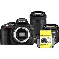 Nikon D5300 čierny   18–55 mm AF-P VR   70–300 mm AF-P VR