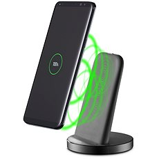 Cellularline WIRELESS FAST CHARGER STAND s USB-C čierny