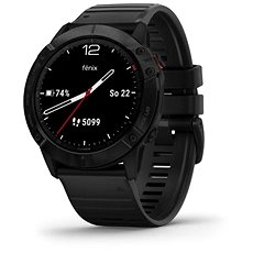 Garmin Fenix 6X Pro Glass Black/Black Band