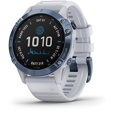 fenix 6 Pro Solar, Mineral Blue, Whitestone Band
