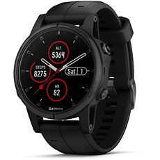 Garmin Fenix 5S Plus Sapphire Black Optic Black Band