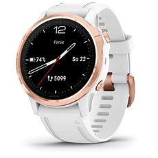 Garmin Fenix 6S Glass, RoseGold/White Band (MAP/Music)
