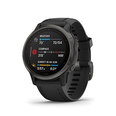 Garmin Fenix 6S Sapphire, Gray/Black Band (MAP/Music)