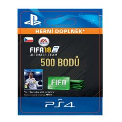 FIFA 18 Ultimate Team - 500 FIFA Points CZ (Hra PS4)