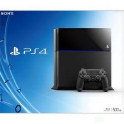 Sony PlayStation 4 500GB, jet black - Použitý tovar, zmluvná záruka 12 mesiacov (Hracia konzola PS4)