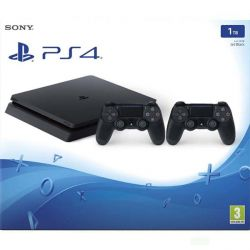 Sony PlayStation 4 Slim 1TB, jet black   Sony DualShock 4 Wireless Controller v2, jet black (Hracia konzola PS4)