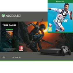 Xbox One X 1TB   Shadow of the Tomb Raider   FIFA 19 (Hracia konzola XboxOne)