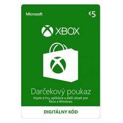 Xbox Store 5€ - elektronická peňaženka (Príslušenstvo XboxOne)